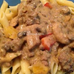 Creamy Beef & Mushroom Penne