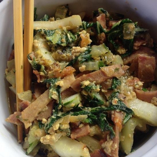 Ham and Bokchoy Stir Fry